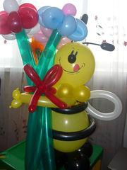 оформим ваш праздник воздушными шарами или сделаем композиции из них