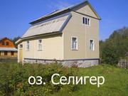 Бревенчатый 2-х этажный дом в Тверской области,  деревня Любимка на озере Селигер,  в 12-ти км от Осташкова